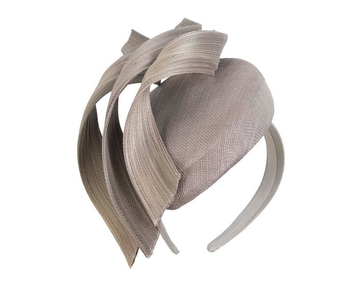 Fascinators Online - Silver pillbox racing fascinator with jinsin trim by Fillies Collection 2