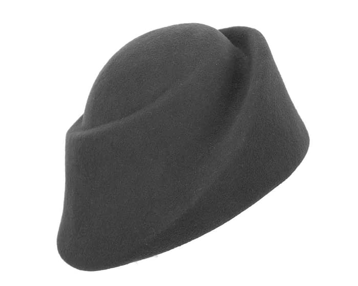 Fascinators Online - Designers black felt hat 2