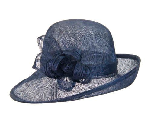 Fascinators Online - Navy cloche spring fashion hat by Max Alexander 2