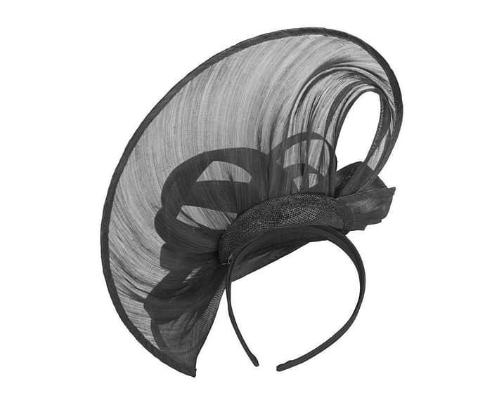 Fascinators Online - Large black heart fascinator by Fillies Collection 4