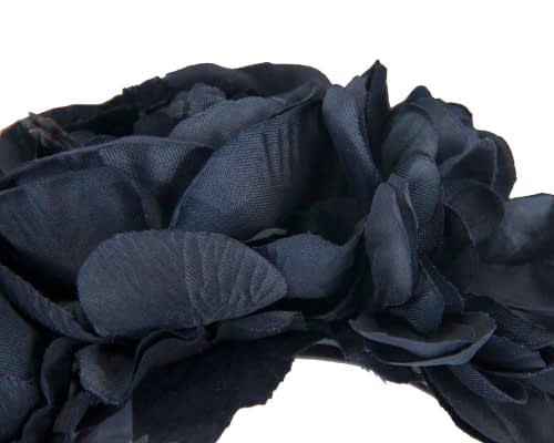Fascinators Online - Navy flower headband fascinator by Max Alexander 3