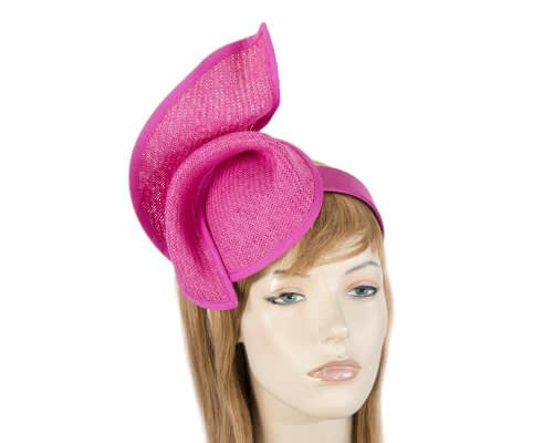 Fascinators Online - Fuchsia twisted fascinator by Max Alexander 1