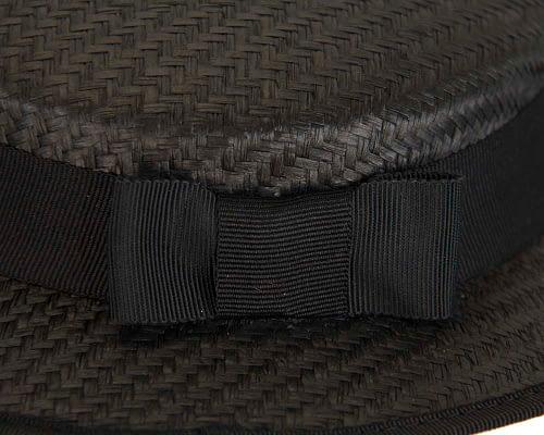 Fascinators Online - Small black boater fascinator hat by Max Alexander 6