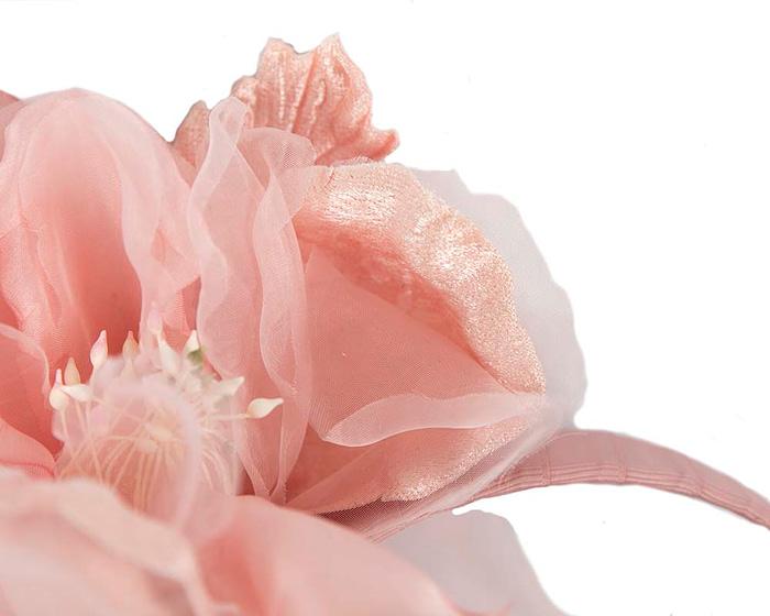 Fascinators Online - Pink Silk Flower Fascinator by Fillies Collection 3