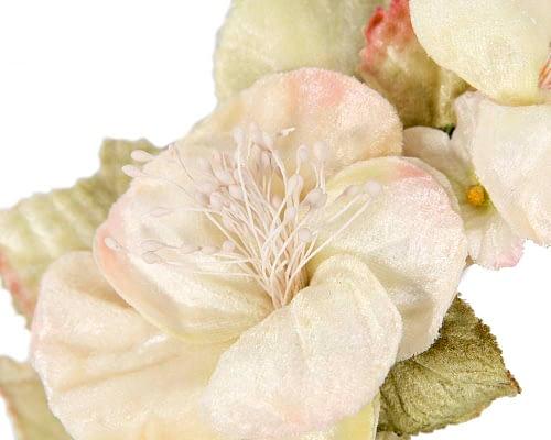 Fascinators Online - Multi-color cream flower headband by Max Alexander 3