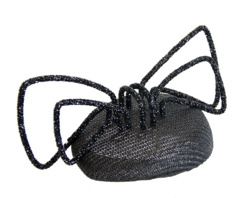 Fascinators Online - Bespoke black pillbox with bow by Fillies Collection 2