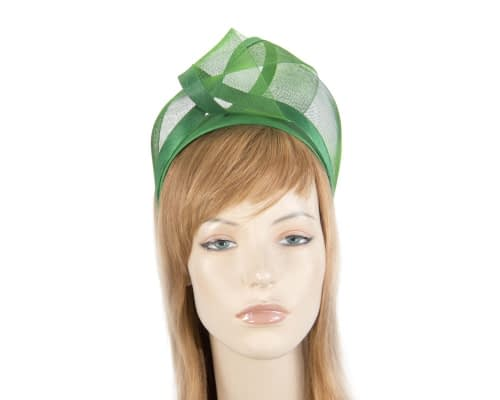 Fascinators Online - Green turban headband by Fillies Collection 1