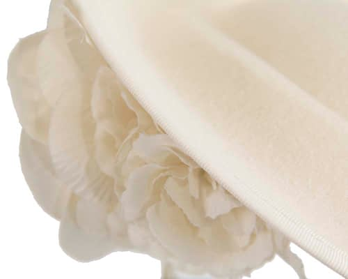 Fascinators Online - Large cream plate with flowers by Fillies Collection 4