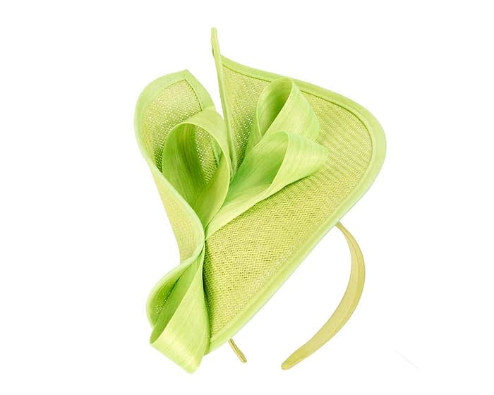 Fascinators Online - Lime green fascinator with bow by Fillies Collection 2