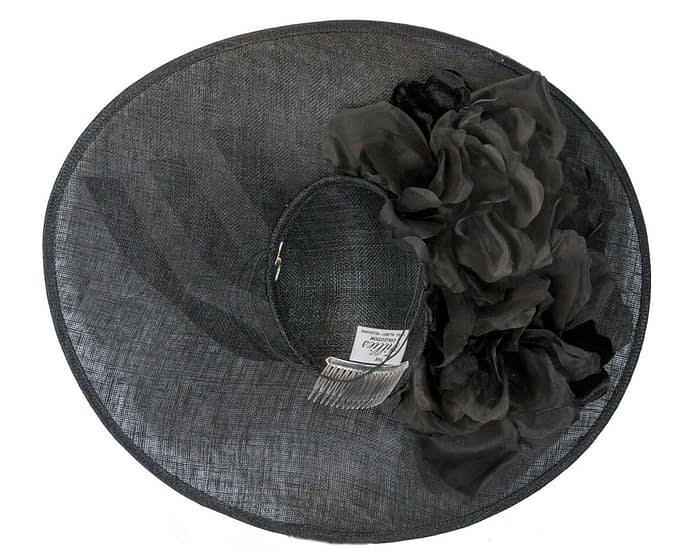 Fascinators Online - Large black plate racing fascinator by Fillies Collection 5