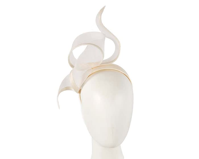 Fascinators Online - Twisted cream racing fascinator by Fillies Collection 1