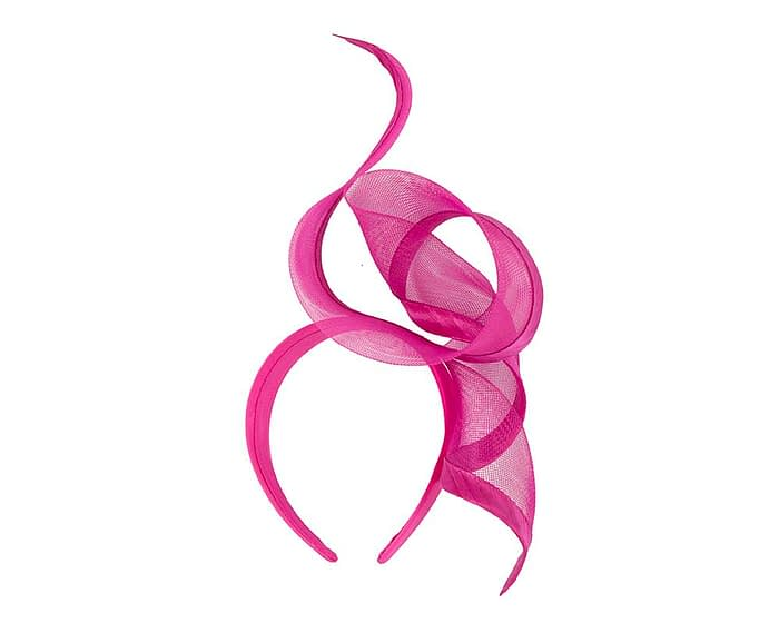 Fascinators Online - Twisted fuchsia racing fascinator by Fillies Collection 4