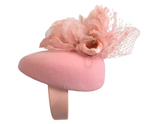 Fascinators Online - Pink pillbox fascinator with flower by Fillies Collection 4