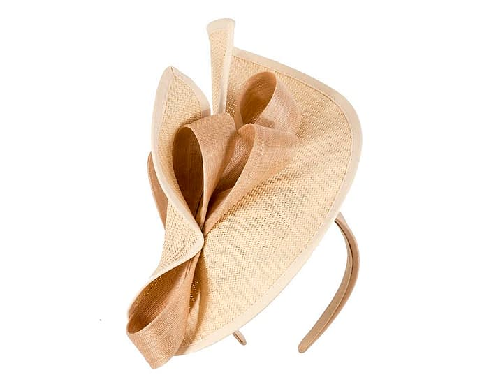 Fascinators Online - Nude fascinator with bow by Fillies Collection 2