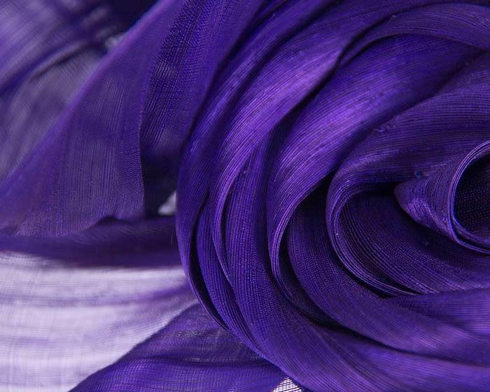 Fascinators Online - Purple sculptured silk abaca fascinator by Fillies Collection 3