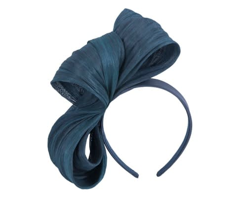 Fascinators Online - Navy bow racing fascinator by Fillies Collection 2