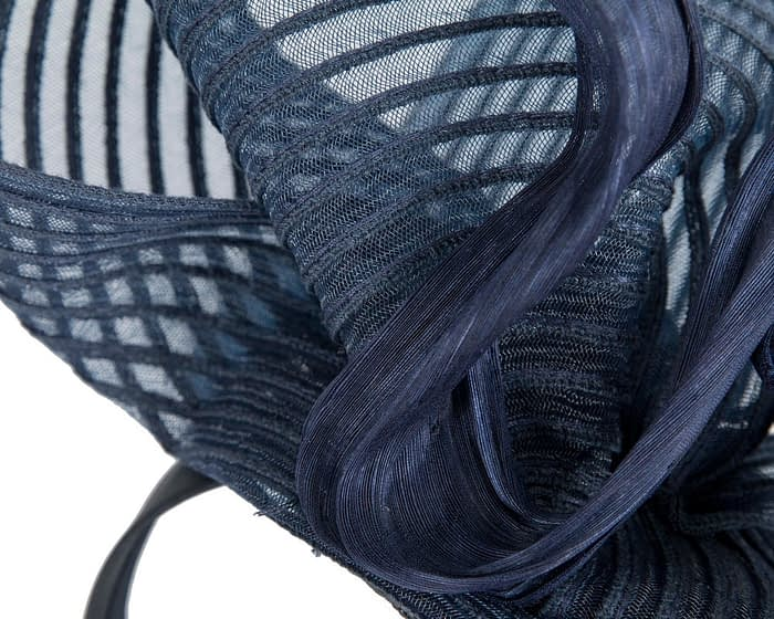 Fascinators Online - Tall Australian Made navy racing fascinator by Fillies Collection 3