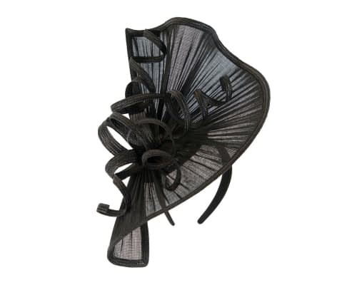 Fascinators Online - Large black jinsin racing fascinator by Fillies Collection 2
