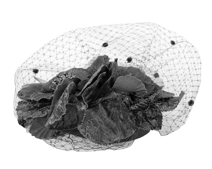 Fascinators Online - Black Australian Made winter pillbox by Fillies Collection 5