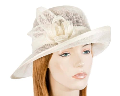 Fascinators Online - Cream cloche spring fashion hat by Max Alexander 14