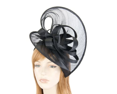 Fascinators Online - Large black heart fascinator by Fillies Collection 1