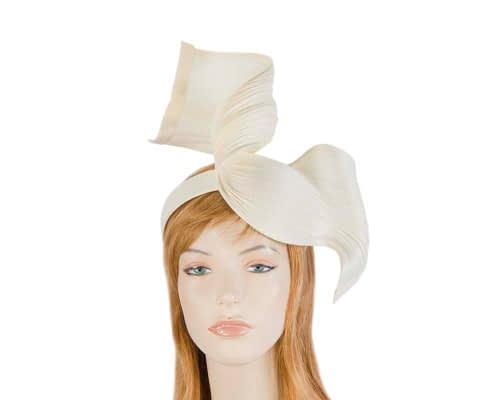 Fascinators Online - Ivory twisted jinsin fascinator by Fillies Collection 1