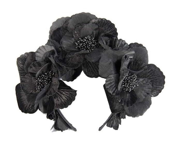 Fascinators Online - Black flower halo 2