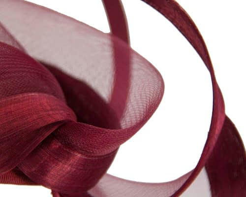 Fascinators Online - Edgy burgundy wine fascinator by Fillies Collection 5