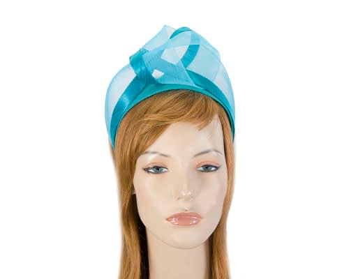 Fascinators Online - Turquoise turban headband by Fillies Collection 1