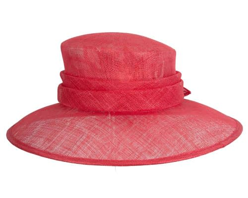 Fascinators Online - Large traditional red racing hat by Max Alexander 3