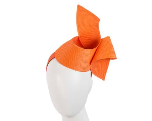 Fascinators Online - Stylish orange Australian Made racing fascinator by Max Alexander 10