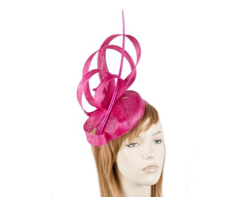 Fuchsia racing fascinator by Max Alexander