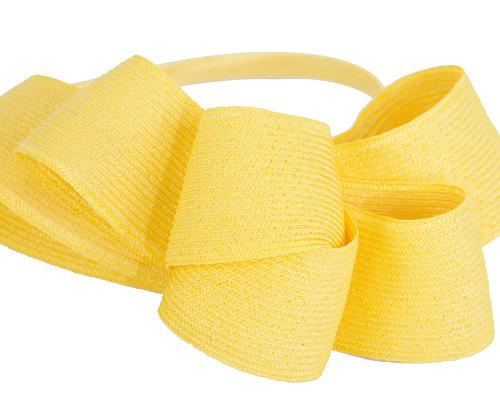 Fascinators Online - Large yellow bow racing fascinator by Max Alexander 3