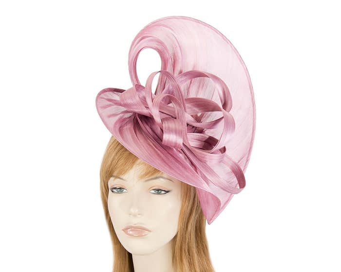 Fascinators Online - Large dusty pink heart fascinator by Fillies Collection 1