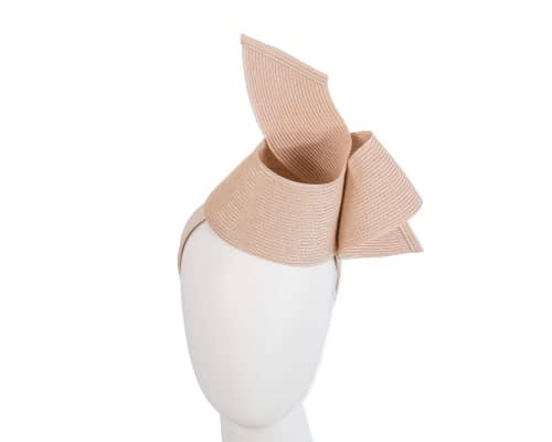Fascinators Online - Stylish nude Australian Made racing fascinator by Max Alexander 1