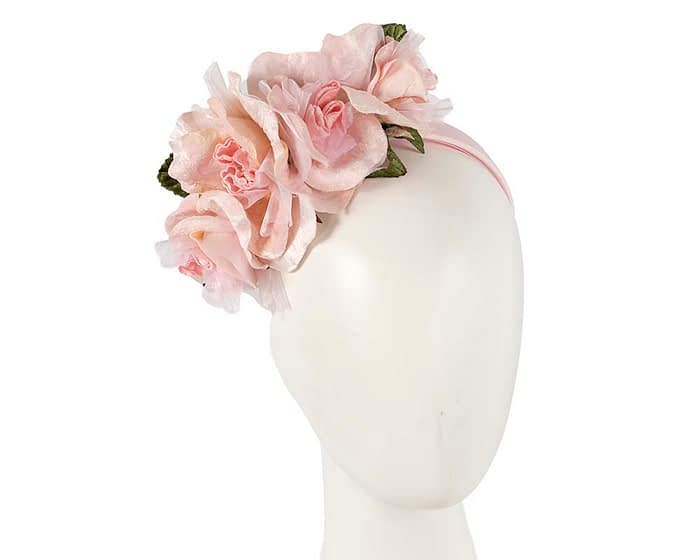 Fascinators Online - Multi-color blush flower headband by Max Alexander 1