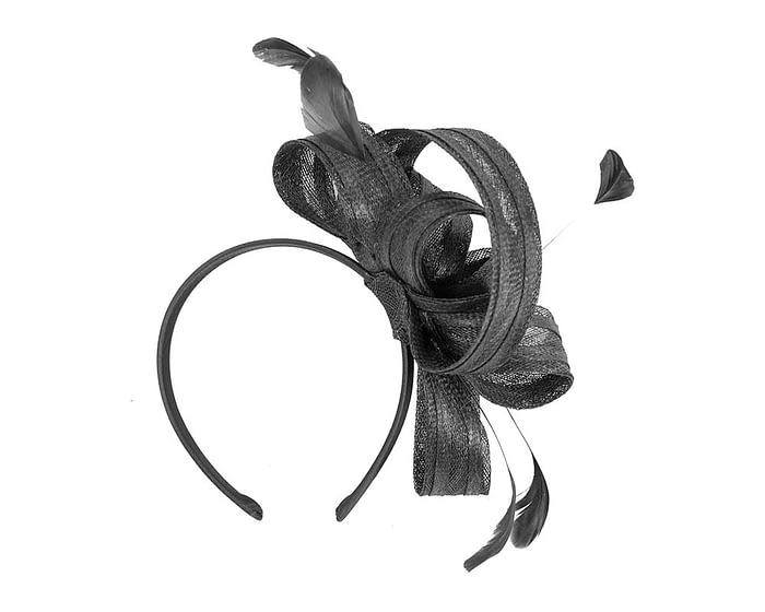 Fascinators Online - Black loops racing fascinator by Max Alexander 4