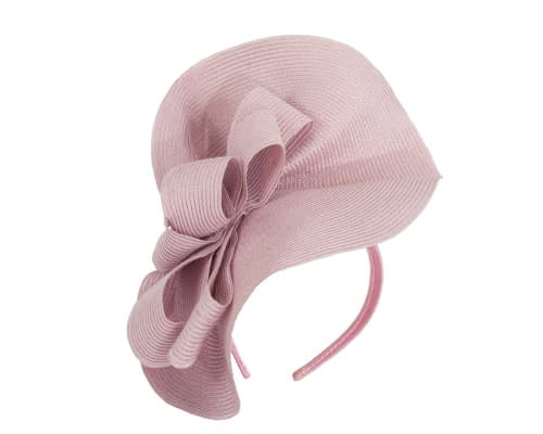 Fascinators Online - Large dusty pink fascinator with loops by Max Alexander 2