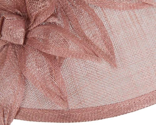 Fascinators Online - Large traditional dusty pink racing hat by Max Alexander 5