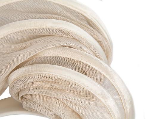 Fascinators Online - Cream headband racing fascinator by Fillies Collection 3