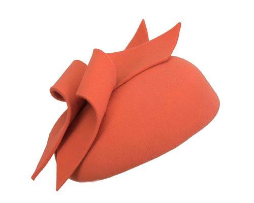 Fascinators Online - Burnt orange felt winter pillbox fascinator by Max Alexander 2
