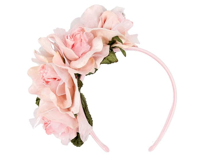 Fascinators Online - Multi-color blush flower headband by Max Alexander 2