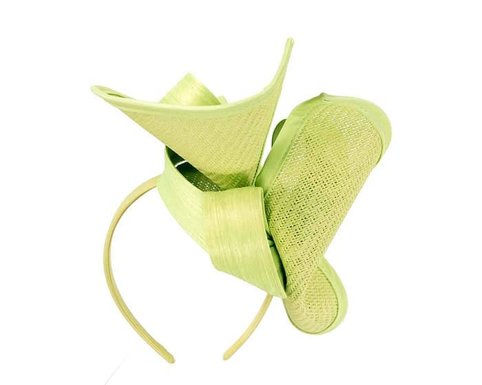 Fascinators Online - Lime green fascinator with bow by Fillies Collection 6