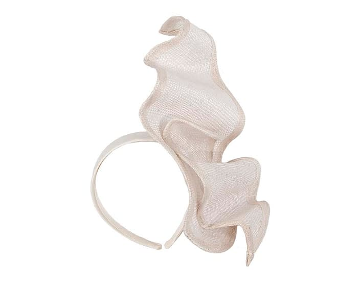 Fascinators Online - Stylish ivory racing fascinator by Max Alexander 2