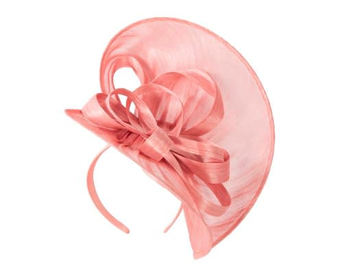 Fascinators Online - Large coral heart fascinator by Fillies Collection 2
