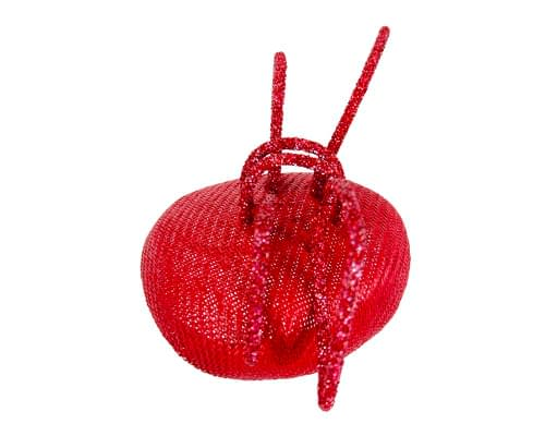 Fascinators Online - Bespoke red pillbox with bow by Fillies Collection 3