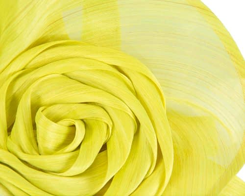 Fascinators Online - Yellow sculptured silk abaca fascinator by Fillies Collection 3
