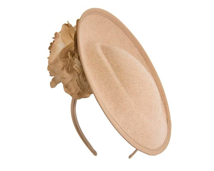 Fascinators Online - Large beige plate with flowers by Fillies Collection 2