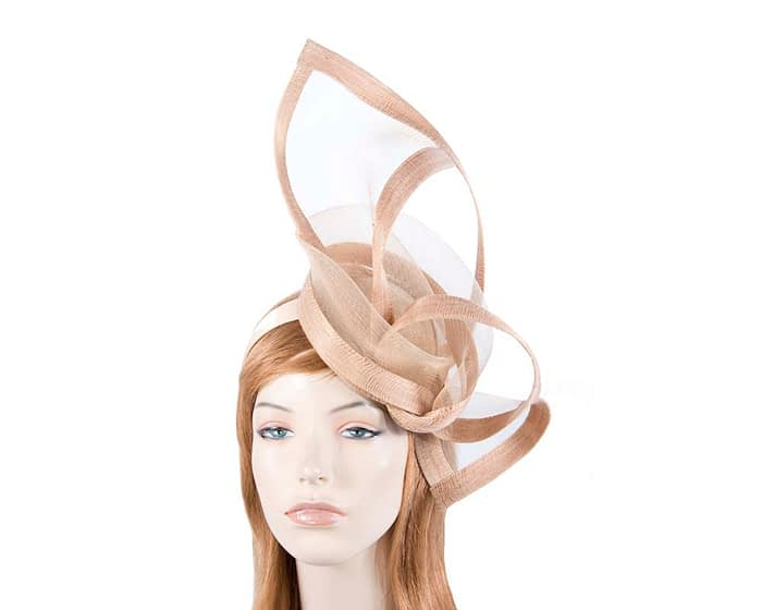 Fascinators Online - Edgy nude fascinator by Fillies Collection 1