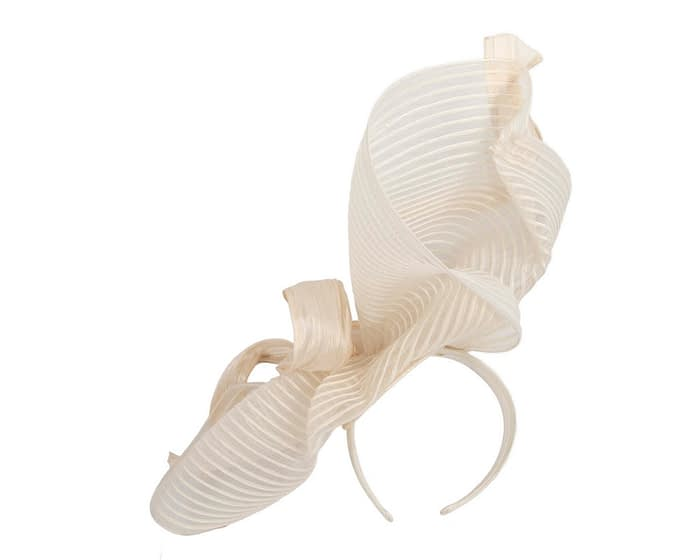 Fascinators Online - Tall Australian Made cream racing fascinator by Fillies Collection 4